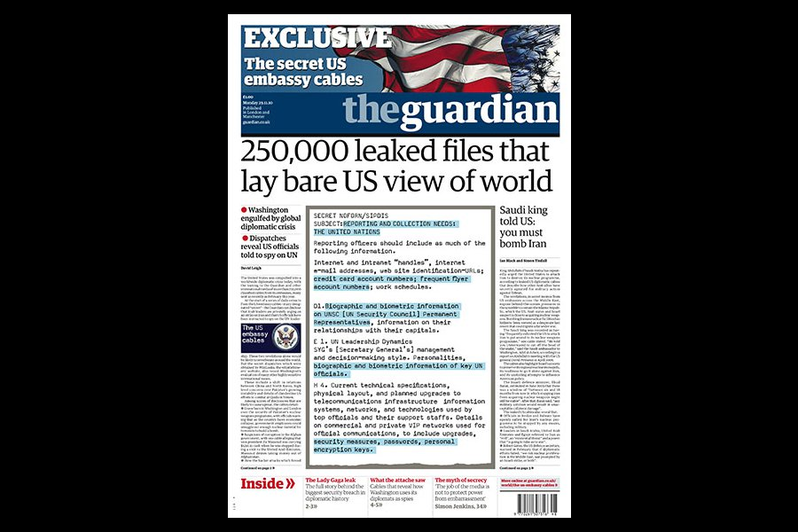 Pulitzer para The Guardian y Washington Post por revelar espionaje de EU